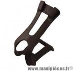 Cale pieds VTT résine double branche pour courroie l/xl noir (paire) - Accessoire Vélo Pas Cher