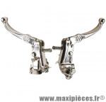 Paire de leviers de frein MX Tech argent old school BMX/fixie