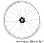 Roue VTT 16 pouces avant écrou axe plein alu - Accessoire Vélo Pas Cher