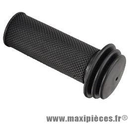 Poignée enfant caoutchouc noir l 80 mm diamètre 22 mm (paire) - Accessoire Vélo Pas Cher