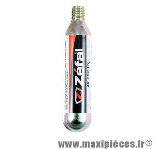Cartouche co2 25 grammes filète (tubeless) pr pneu 27.5 et 29 pouces marque Zéfal - Matériel pour Cycle *Prix spécial !