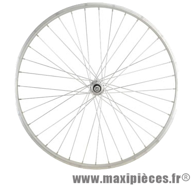 Roue vélo ville 650 x 30a arrière axe plein alu (26x1 3/8) - Accessoire Vélo Pas Cher *Prix spécial !