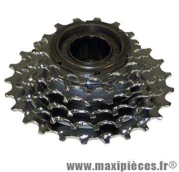 Roue libre 6  vitesses 14-24 dents argent marque Sunrace - Matériel pour Vélo