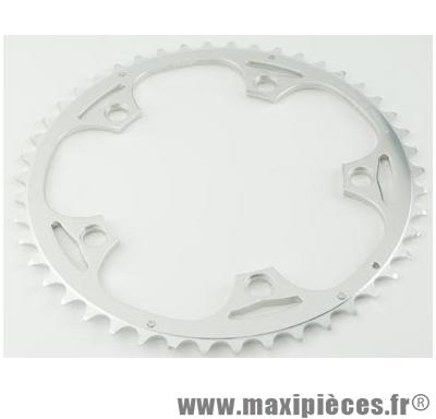 Plateau 50 dents route diamètre 130 extérieur argent alize (comp.shimano) marque Spécialités TA - Matériel pour Vélo