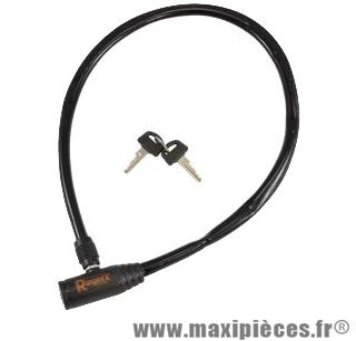 Antivol vélo cable a clé 65 cm marque Rangers - Antivol Vélo