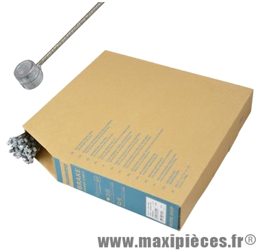 Cable frein VTT inox 1.60m (vendu par boite de 100) marque Shimano - Matériel pour Vélo