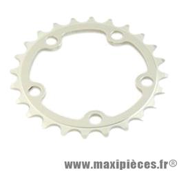 Plateau 24 dents route diamètre 74 intérieur argent zelito triple (comp.campa/shimano) marque Spécialités TA - Matériel pour Vélo