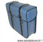 Déstockage ! Sacoches vélo Sporfabric S15CO bleu Simili-cuir (la paire)