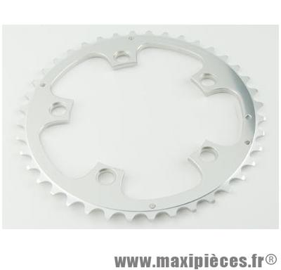Plateau 42 dents route diamètre 110 extérieur argent zephyr (comp. shimano) marque Spécialités TA - Matériel pour Vélo