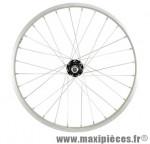 Roue VTT 20 pouces arrière écrou rl a visser axe plein jante alu / moyeu acier - Accessoire Vélo Pas Cher