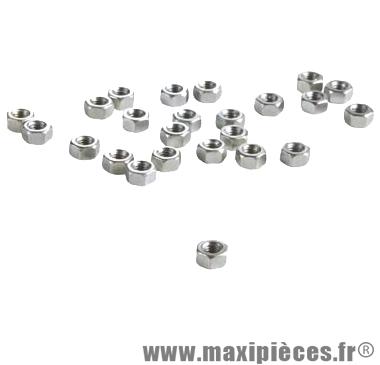 Ecrou 6 pans d 4 (boite de 100) - Accessoire Vélo Pas Cher