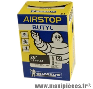 Chambre à air de VTT 26x1.45/2.60 vp c4 (26-8m) marque Michelin - Pièce Vélo