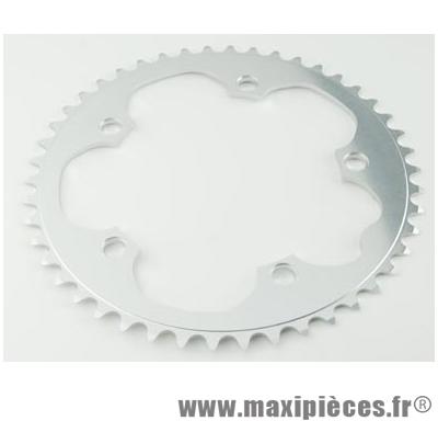 Plateau 50 dents route diamètre 130 extérieur argent dural 10/9v. marque Stronglight - Pièce Vélo