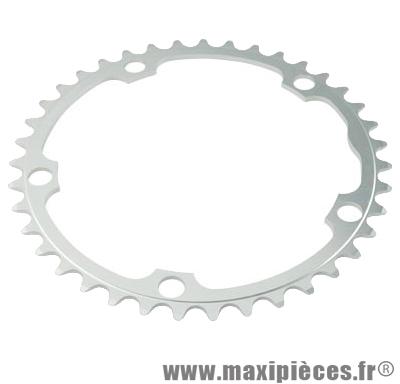 Plateau 39 dents route diamètre 135 intérieur argent dural marque Stronglight - Pièce Vélo