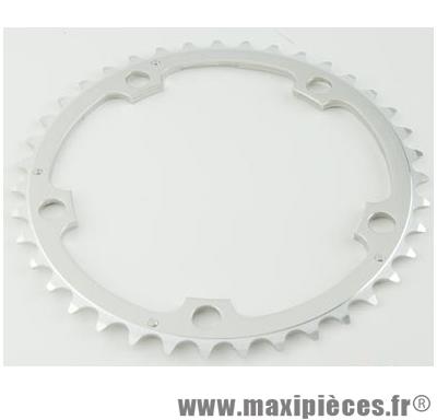 Plateau 39 dents route diamètre 130 interm argent alize (comp. Shimano) marque Spécialités TA - Matériel pour Vélo