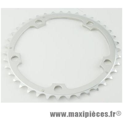 Plateau 40 dents route diamètre 130 interm argent alize (comp. Shimano) marque Spécialités TA - Matériel pour Vélo