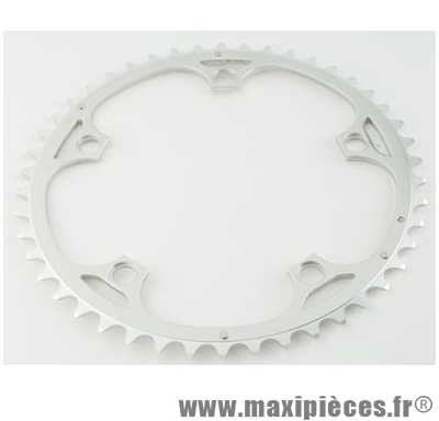 Plateau 53 dents route diamètre 135 extérieur argent vento (comp.campa) marque Spécialités TA - Matériel pour Vélo