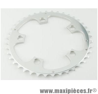Plateau 52 dents route diamètre 110 extérieur argent zephyr (comp. Shimano) marque Spécialités TA - Matériel pour Vélo