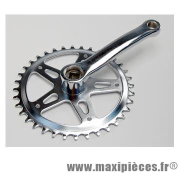 Pédalier monovitesse enfant 36d l127mm acier futura 3.32 (vélo 20 pouces) - Accessoire Vélo Pas Cher