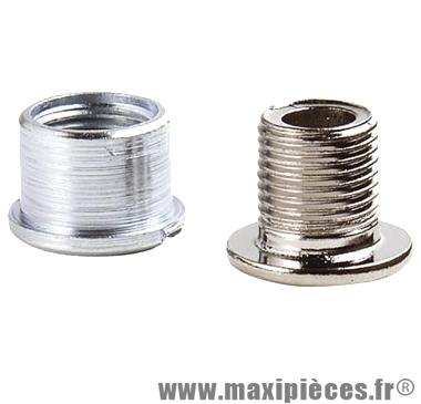 Vis/cheminée fixation dble plateau acier-inox speedlight (x5) marque Stronglight - Pièce Vélo
