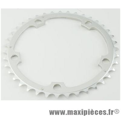 Plateau 42 dents route diamètre 130 interm argent alize (comp. Shimano) marque Spécialités TA - Matériel pour Vélo