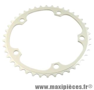 Plateau 42 dents route diamètre 135 intérieur argent vento (comp.campa) marque Spécialités TA - Matériel pour Vélo