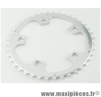 Plateau 44 dents route diamètre 110 extérieur argent zephyr (comp. Shimano) marque Spécialités TA - Matériel pour Vélo