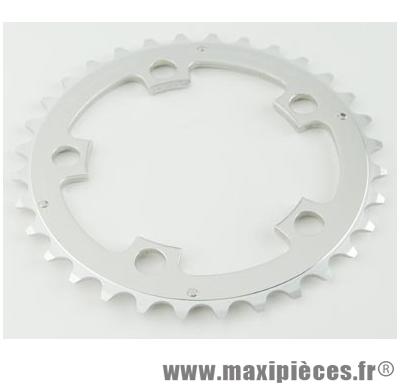 Plateau 44 dents VTT triple diamètre 94 extérieur argent 5 branches compact 8/9v marque Spécialités TA - Matériel pour Vélo