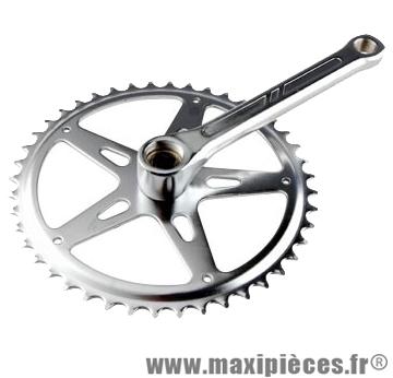 Pédalier monovitesse enfant 44d l150 acier futura 3.32 (vélo 24 pouces) - Accessoire Vélo Pas Cher