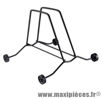 Présentoir 1 vélo sur roulette noir - Accessoire Vélo Pas Cher