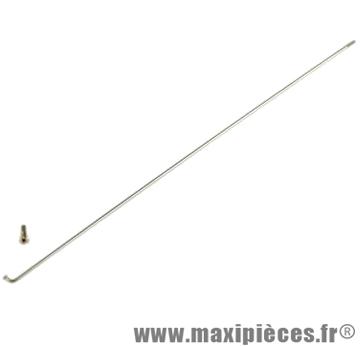 Rayon vélo inox MACH1 281mm de large par 2mm Ø avec écrou vendu à l'unité (x1)