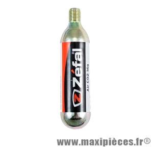 Cartouche co2 16 grammes filète marque Zéfal - Matériel pour Cycle