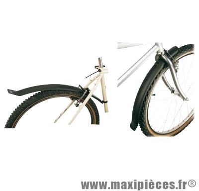 Garde boue VTT 20 pouces clips noir compatible v-brake (paire) marque Zéfal - Matériel pour Cycle