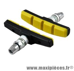 Porte patin VTT a vis v-brake noir/jaune symétrique (paire) marque Baradine - Accessoire Vélo