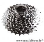 Cassette 9 vitesses chrome 11-32 dents (compatible shimano) marque Sunrace - Matériel pour Vélo *Prix spécial !
