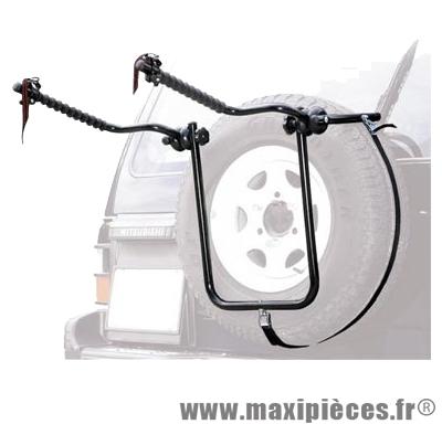 Porte vélo 4x4 bike carrier acier 2 vélos fixation sur roue de secours marque Peruzzo - Accessoire Vélo *Prix spécial !