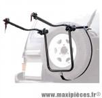 Prix spécial ! Porte vélo 4x4 bike carrier acier 2 vélos fixation sur roue de secours marque Peruzzo - Accessoire Vélo