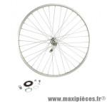 Roue vélo ville 650 x 35b arrière rétropédalage jante alu mx acier - Accessoire Vélo Pas Cher