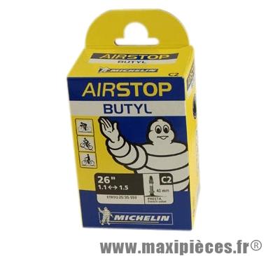 Chambre à air de VTT 26x1.00/1.50 vp c2 (26-6nm) marque Michelin - Pièce Vélo