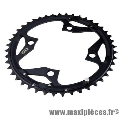 Plateau 44 dents VTT triple diamètre 104 extérieur noir 4 banches origine slx m660 9v marque Shimano - Matériel pour Vélo