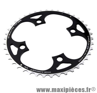Plateau 42 dents VTT triple diam 104 ext noir 4 branches 23mm chinook (lx/deore) 9v marque Spécialités TA - Matériel pour Vélo