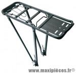 Porte bagage arrière 26/28 pouces noir (pliable) - Accessoire Vélo Pas Cher