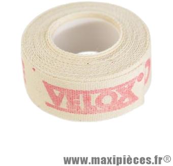 Fond de jante adhésif 19mm haute résistance coton (rouleau de 2m) marque Vélox