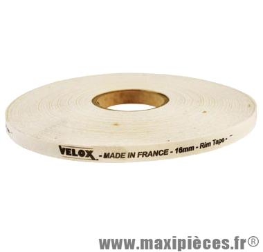 Fond de jante adhésif 16mm haute résistance coton (rouleau de 100m) marque Vélox
