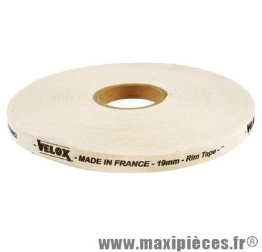 Fond de jante adhésif 19mm haute résistance coton (rouleau de 100m) marque Vélox