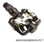 Pédale VTT auto fpd noire (paire) compatible shimano - Accessoire Vélo Pas Cher