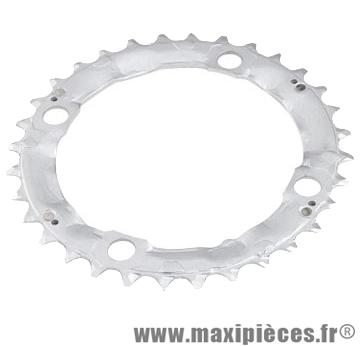 Plateau 32 dents VTT triple diamètre 104 interm argent 4 branches origine deore m510 (ali marque Shimano - Matériel pour Vélo