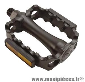 pr Pedale vtt alu monobloc noire 9//16 Accessoire Vélo