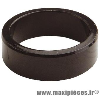 Entretoise ahead-set 1 pouce 1/8 20mm noire 28.6 mm ext. marque Atoo - Matériel pour Vélo