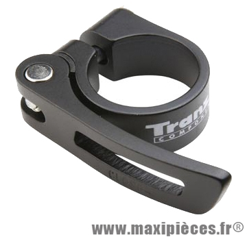 Collier tige de selle VTT/VTC d31.8 mm noir alu + serrage rapide - Accessoire Vélo Pas Cher